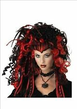 New Black & Red Widow Witch Vampire Twilight Wig Fancy Dress Accessory P6063