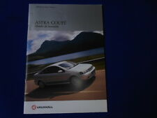VAUXHALL ASTRA COUPE SALES BROCHURE  OCTOBER 2001 FOR 2002 MODEL YEAR