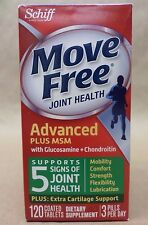 Schiff MOVE FREE ADVANCED MSM Glucosamine Chondroitin 120 Tablets Exp 01/18