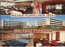 Alte Postkarte - Impressionen von der Weser-Kurklinik (BfA) Weltbad Pyrmont