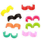 100pcs Fashion Plastic Colorful Circular Ring Hair Barrettes Hair Clip Crafts L