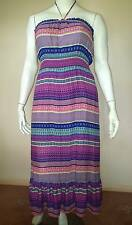 New HOT OPTIONS Multi-Coloured Long Maxi Pull-On DRESS - Size 16