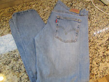 LEVIS 513 LOW SLOUCH JEANS MENS 36X32 BOOTCUT LIGHT WASH FREE SHIP