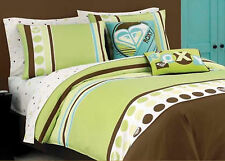 TWIN / TWIN XL - Roxy by Quiksilver - Kelly Colorblock COMFORTER & SHAM SET