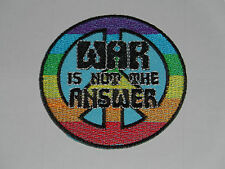 NOVELTY ANTI-WAR PEACE SEW ON / IRON ON PATCH:- CND WAR IS NOT THE ANSWER