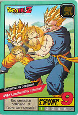 CARTE DRAGON BALL LE GRAND COMBAT N-¦ 498 SONGOHAN &  SONGOTEN POWER LEVEL 9