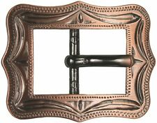 """Western Equestrian Cowboy Rodeo Tack Cart Buckle Antique Copper Plated 5/8"""""""