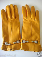 Parisi Fine Italian Leather Gloves Size 7 Mustard Yellow