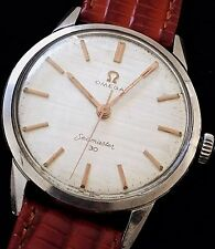 RARE VINTAGE 1962 Omega Seamaster 30 Watch - ORIGINAL TEXTURED SATIN DIAL!