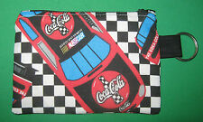 """COCA-COLA-NASCAR"" Coin Purse w/ Key Ring-Handmade"