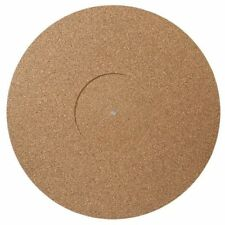 Turntable Mat Cork Rubber , Record label recess