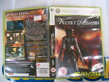 XBOX360 GAME VELVET ASSASSIN (ORIGINAL USED)