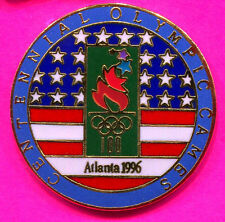 1996 OLYMPIC ERROR PIN SAYS CAMES INSTEAD OF GAMES ERROR PIN