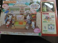 Sylvanian Families - Supermarket Gift Set - With Toy Wagon & Crepe Shop - Ages 3