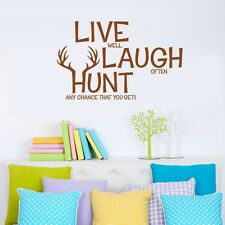LIVE LAUGH HUNT Wall Decals Hunting Wall Decor Vinyl Stickers Quotes Graphics