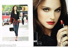 Publicité advertising 2013 (2 pages) Cosmétique maquillage Dior Natalie Portman