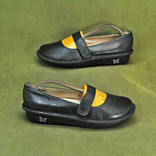 "Alegria by PG Lite ""Feliz"" Black Leather Mary Jane Shoes sz 39 FEL-601 NICE"