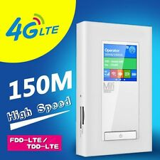 5200mAh Unlock 150Mbps LTE 4G Mobile WiFi Router With Two SIM Card/RJ45 Slot
