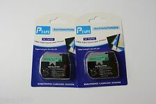 2Ea Compatible Brother P-touch Label M-K731 MK731 Black/Green Tape 26.2' x 12mm