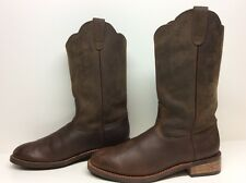 VTG MENS RED HEAD COWBOY LEATHER BROWN BOOTS SIZE ?