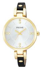 PH8036X1 NEW Pulsar Damen Vergoldet Lederband Uhr