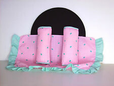 Vtg 1988 Hasbro Fashion Doll Bedding Bedspread Pillows Day Bed for Barbie Maxie