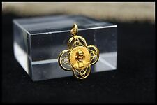 † ST J.M.B VIANNEY & ROSA MYSTICA GOLDPLATED MEDAL PENDANT CURE OF ARS FRANCE †