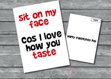 Personalised Funny Rude Adult Taste Card Birthday Or Valentines Day Card A5