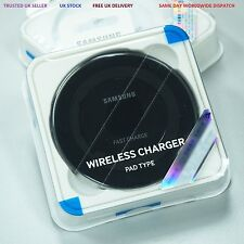 Genuine Samsung Galaxy S7 Edge S7 Wireless Fast Charging Pad Plate Charger Black
