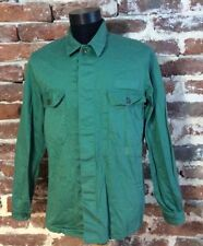 Vintage FRENCH WORK JACKET Shirt Workwear Chore Workers Hobo L Green 197