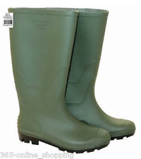 Kids Ladies Green Wellington Boots Wellies Waterproof PVC Fully Lined Size 5 UK