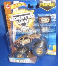 MATTEL HOT WHEELS MONSTER JAM OFF ROAD 1:64 MONSTER TRUCK TEAM MEENTS W/FLAG