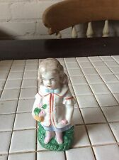 Vintage China Figure Of A Girl Marks To Base As To The Maker
