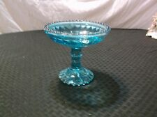 Vintage Blue Footed Compote Jar Candy Dish