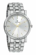 Titan 1639SM01 Analog Silver Dial Men's Watch
