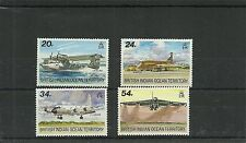 BIOT SG124-127 VISITING AIRCRAFT SET MNH