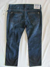 True Religion Straight Moto Zip Jeans-Distressing/Oil -Camshaft-Size 40-NWT $343