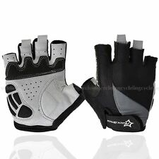 RockBros Gel Bike Cycling Gloves Half Finger Short Riding Gloves Black Size L