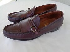 Mens Cross Jacks by Wright brown leather kiltie loafers 11 C