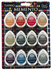 TSUKINEKO Memento *SET OF 12* DEW DROP Ink Pads - Snow Cones MD-012-300 R