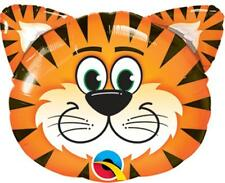 "32"" SUPERSHAPE FOIL BALLOON ""TICKLED TIGER"" ANIMAL HEAD"