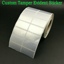 500 Custom Printed Void Security Labels Removed Tamper Evident Stickers Warranty