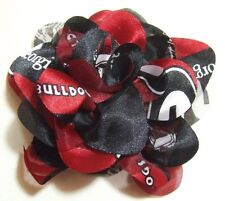 New Georgia Bulldogs Red and Black Hair Tie, Gifts for Her Mom, UGA, Prom, Bow