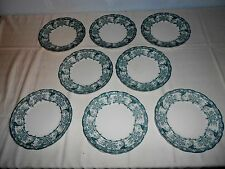 "8 Antique Colonial Pottery Stoke England ""Malvern"" 8 3/4"" Luncheon Plates 406303"