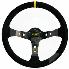 QSP Suede Steering Wheel,350mm 90mm Dish QS.S90Z3