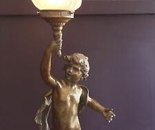 MOREAU STYLE CHERUB TABLE LAMP LIGHT (FACING RIGHT)  - WILL SHIP AUSTRALIA WIDE