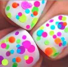 FLIRTY- Polka Dot-NEON-Custom-Blended Indie Glitter Nail Polish / Lacquer