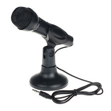 Para PC sobremesa 3.5mm Net Chat KTV Speech Micrófono MIC Stand Monte Caliente