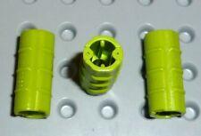 LEGO - TECHNIC - Axle Connector Ridged with 'x' Hole LIME x 3 (6538b) TK430