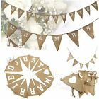 MR&MRS JUST MARRIED Jute Burlap Hessian Bunting Shabby Wedding Party Banner